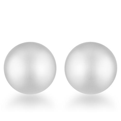 Julie Rhodium Sphere Stud Earrings