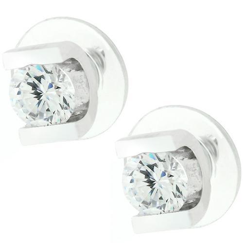 Brilliant Set Cubic Zirconia Earrings