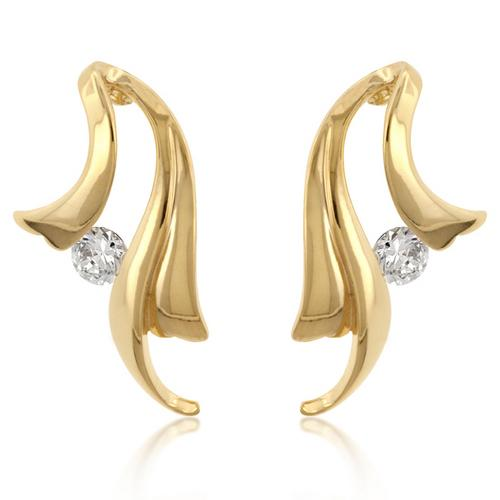 Solitaire Winged Earrings