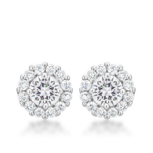 Bella Bridal Earrings in Clear
