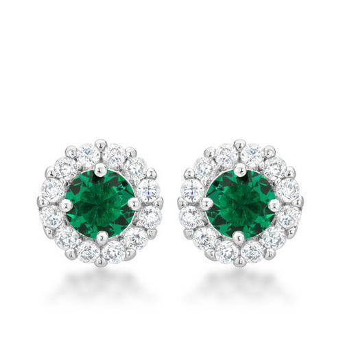 Bella Bridal Earrings in Green