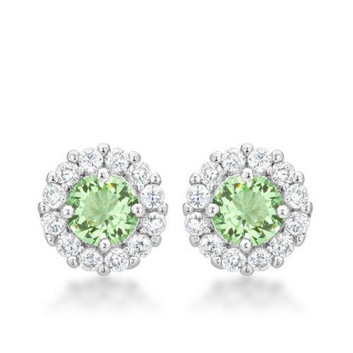 Bella Bridal Earrings in Peridot