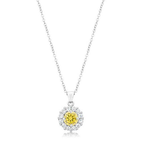 Bella Bridal Pendant in Yellow