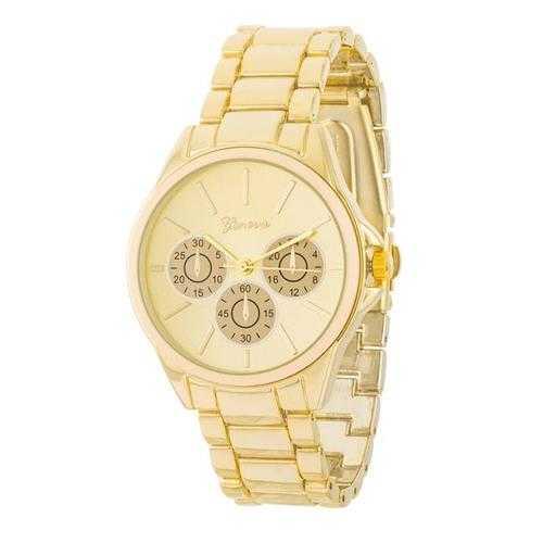 Chrono Gold Metal Watch