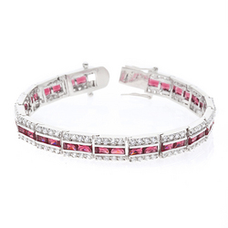 Balboa Red Cubic Zirconia Bracelet