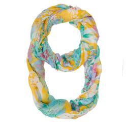 Wanda Multicolor Floral Print Infinity Scarf