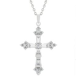 Brilliant Cubic Zirconia Cross Pendant
