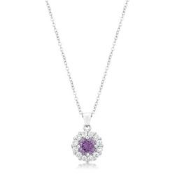 Bella Bridal Pendant in Purple