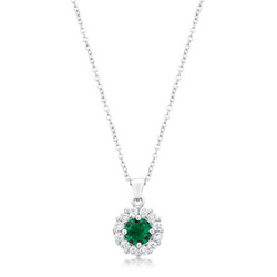 Bella Bridal Pendant in Green