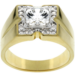 Golden Star Mens Ring