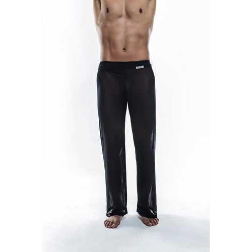 Joe Snyder Sheer Lounge Pants-Black Mesh-Small