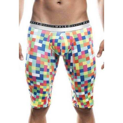 MaleBasics Athletic New Hipster Boxer Brief-Green Pixels-Small