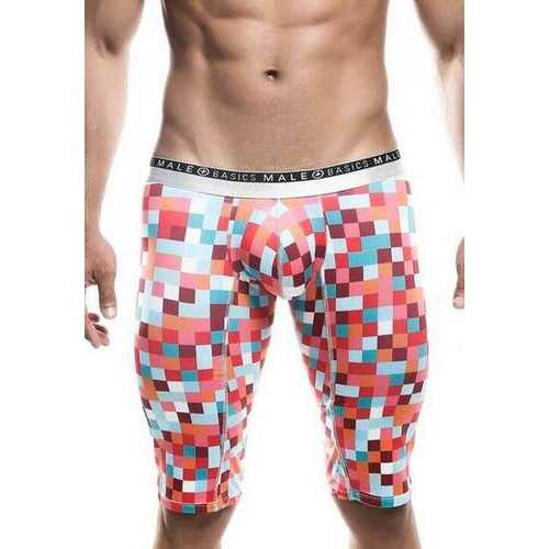 MaleBasics Athletic New Hipster Boxer Brief-Red Pixels-Small