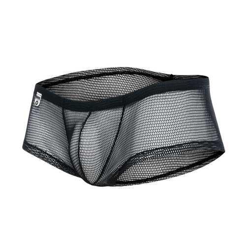 MOB Men's Fishnet Boxer Short-Black-Small/Medium