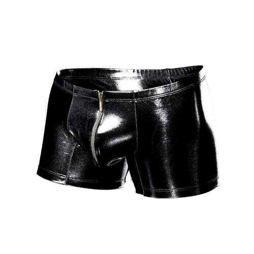 MOB Men's Zipper Mirror Boxer-Small/Medium-Black