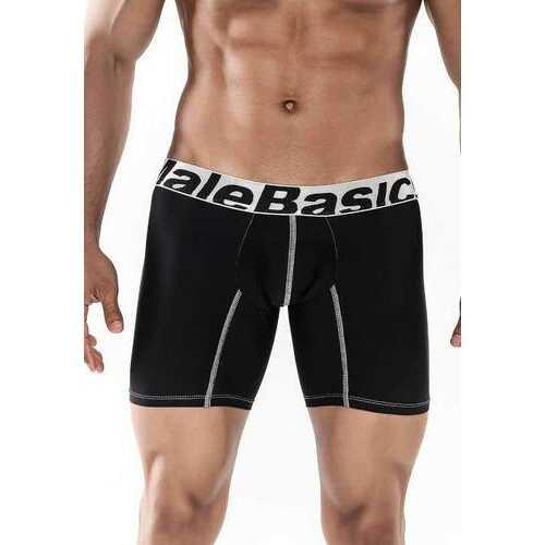 MaleBasics Boxer Brief Microfiber-Black-Small