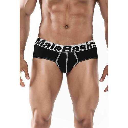 MaleBasics Men's Sports Performance Hip Brief-Black-Small