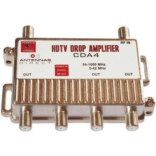 Antennas Direct CDA4 TV/CATV Distribution Amp (4 Way Output)