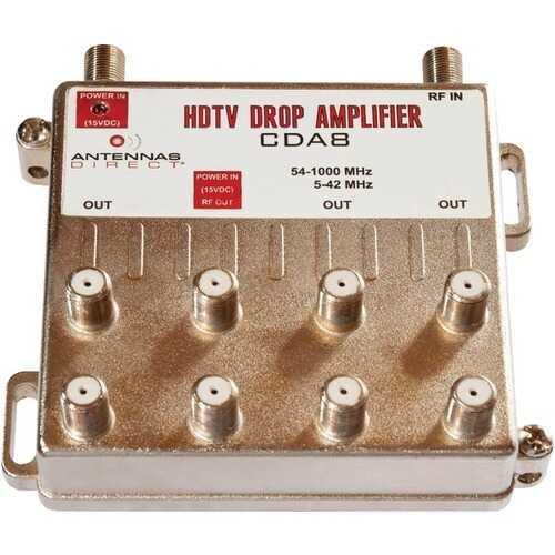 Antennas Direct CDA8 TV/CATV Distribution Amp (8 Way Output)
