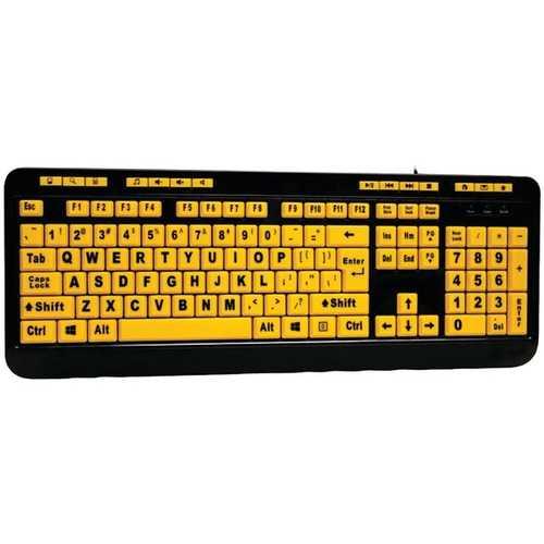 Adesso(R) AKB-132UY EasyTouch(TM) 132 Luminous Large-Print Desktop Keyboard