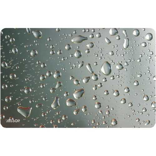 Allsop(TM) 29648 Widescreen Metallic Raindrop Mouse Pad