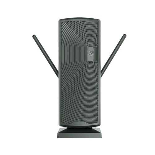 ANTOP Antenna Inc. AT-405BV DG AT-405BV Smartpass-Amplified Mini Tower Indoor/Outdoor HDTV Antenna (Dark Gray)
