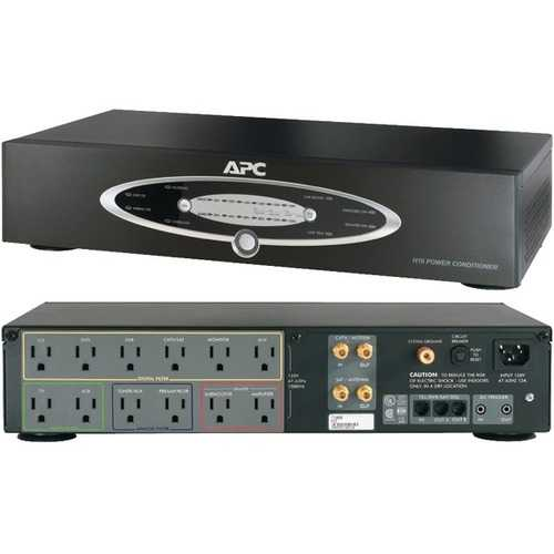 APC H10BLK 12-Outlet H-Type Rack-Mountable Power Conditioner with Coaxial Protection
