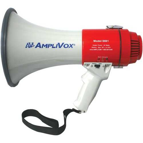 AmpliVox S601R Mity-Meg 20-Watt Megaphone