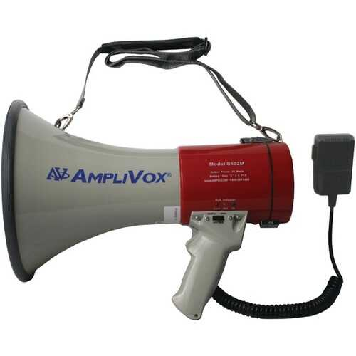 AmpliVox S602MR Mity-Meg Plus 25-Watt Rechargeable Megaphone