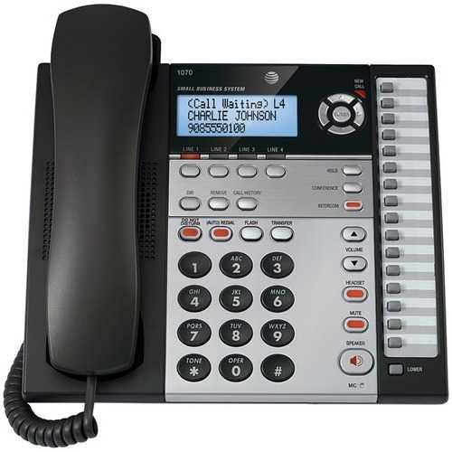 AT&T 1070 4-Line Speakerphone with Caller ID