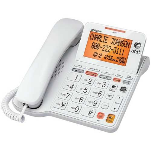 AT&T CL4940 Corded Phone with Answering System & Large Tilt Display