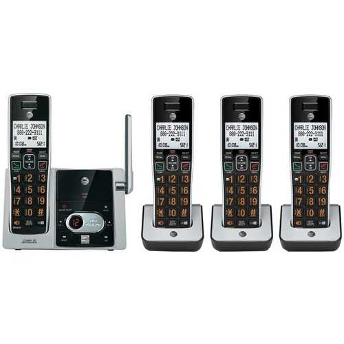 AT&T ATTCL82413 DECT 6.0 Cordless Answering System with Caller ID/Call Waiting (4-handset system)
