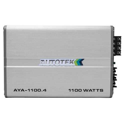 Autotek AYA-1100.4 Alloy Series 1,100-Watt 4-Channel Class AB Amp