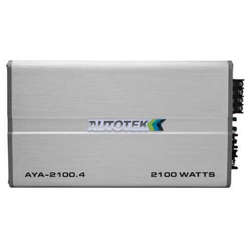 Autotek AYA-2100.4 Alloy Series 2,100-Watt 4-Channel Class AB Amp