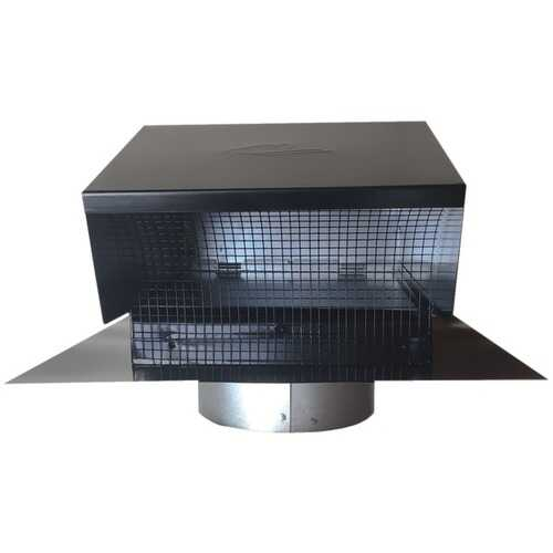 """Builder's Best 012633 Black Metal Roof Vent Cap (6"""" Collar)"""