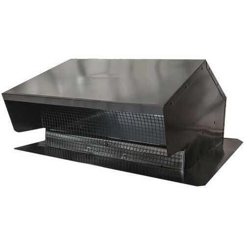 "Builder's Best 012634 Black Metal Roof Vent Cap (6""-8"" (3 1/4"" x 10"") Universal Flush)"