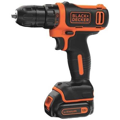 BLACK+DECKER(TM) BDCDD12C 12-Volt MAX* Cordless Lithium Drill/Driver