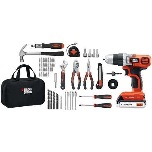 BLACK+DECKER(TM) LDX120PK 20-Volt MAX* Lithium Drill/Driver & 68-Piece Project Kit