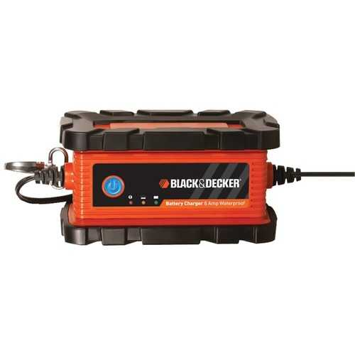 BLACK+DECKER BC6BDW Waterproof Battery Charger/Maintainer (6 Amps)