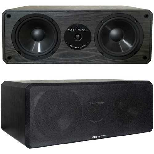 BIC America DV62CLR-S 175-Watt 2-Way 3-Driver 6.5-Inch Center Channel Speaker