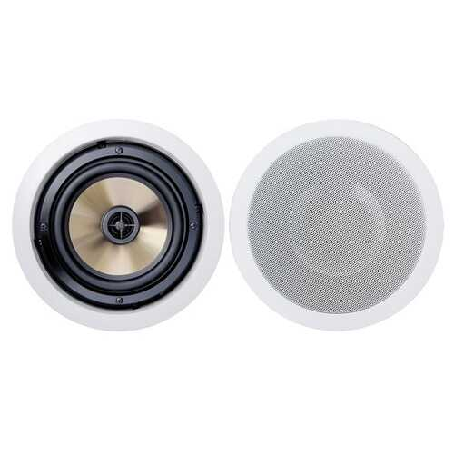 BIC America FH-6C Formula Series FH-6C 6-1/2 Inch 150-Watt 2-Way In-Ceiling Speakers with Pivoting Horn Tweeters