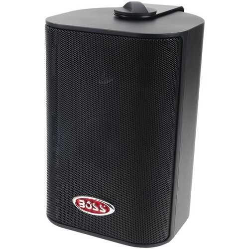 """BOSS Audio Systems MR4.3B 4"""" 200-Watt Indoor/Outdoor 3-Way Speakers (Black)"""