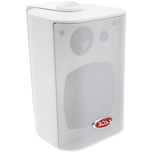 """BOSS Audio Systems MR4.3W 4"""" 200-Watt Indoor/Outdoor 3-Way Speakers (White)"""
