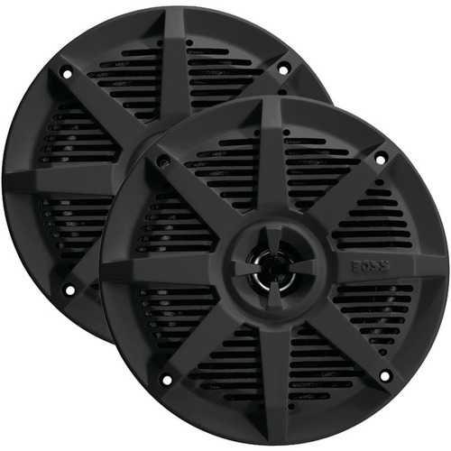 "BOSS Audio Systems MR52B 2-Way Full-Range Marine Speakers (5.25"", Black)"