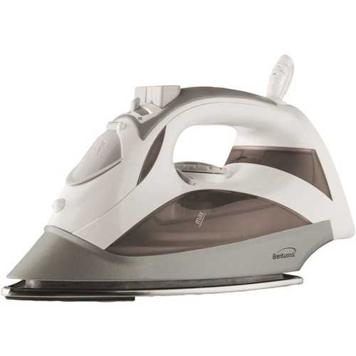 Brentwood Appliances MPI-90W Steam Iron with Auto Shutoff & Retractable Cord (White)