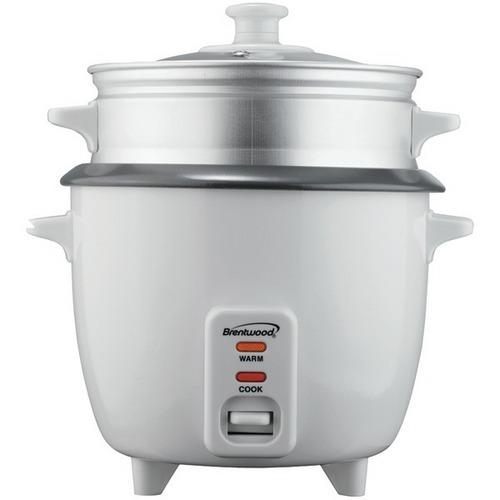 Brentwood Appliances TS-180S Rice Cooker with Steamer (8 Cups, 500 Watts)