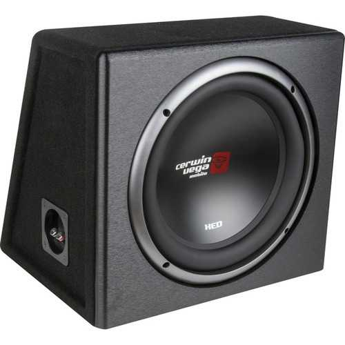 Cerwin-Vega Mobile XE10SV XED Series XE10SV Single 10-Inch Subwoofer in Loaded Enclosure