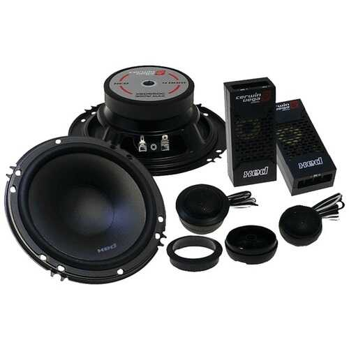 "Cerwin-Vega Mobile XED525C XED Series 5.25"" 300-Watt 2-Way Component Speaker System"