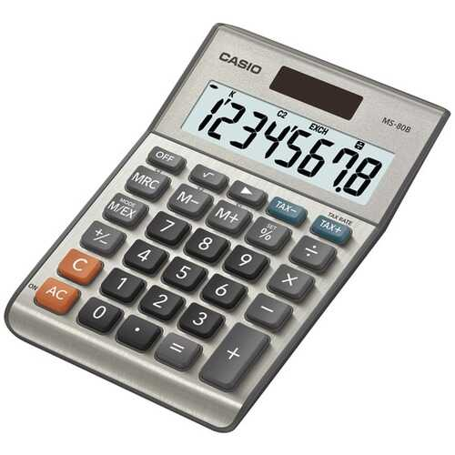 CASIO MS80SSIH Solar Desktop Calculator with 8-Digit Display