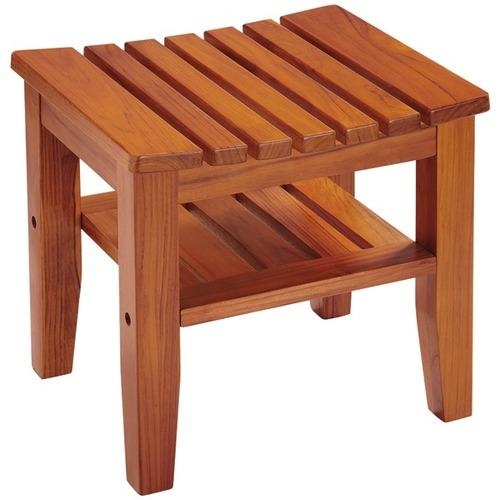 Conair(R) PTB7 Solid-Teak Spa Bench with Shelf